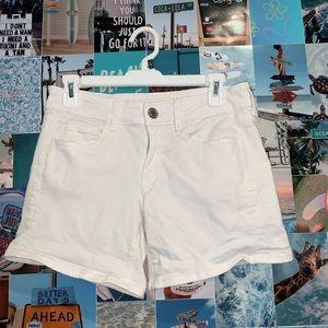 White American Eagle Super Stretch Jean Shorts